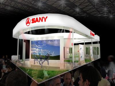 SANY三一重工展台设计搭建