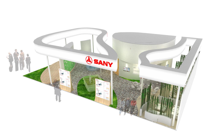 SANY三一重工展台设计搭建2